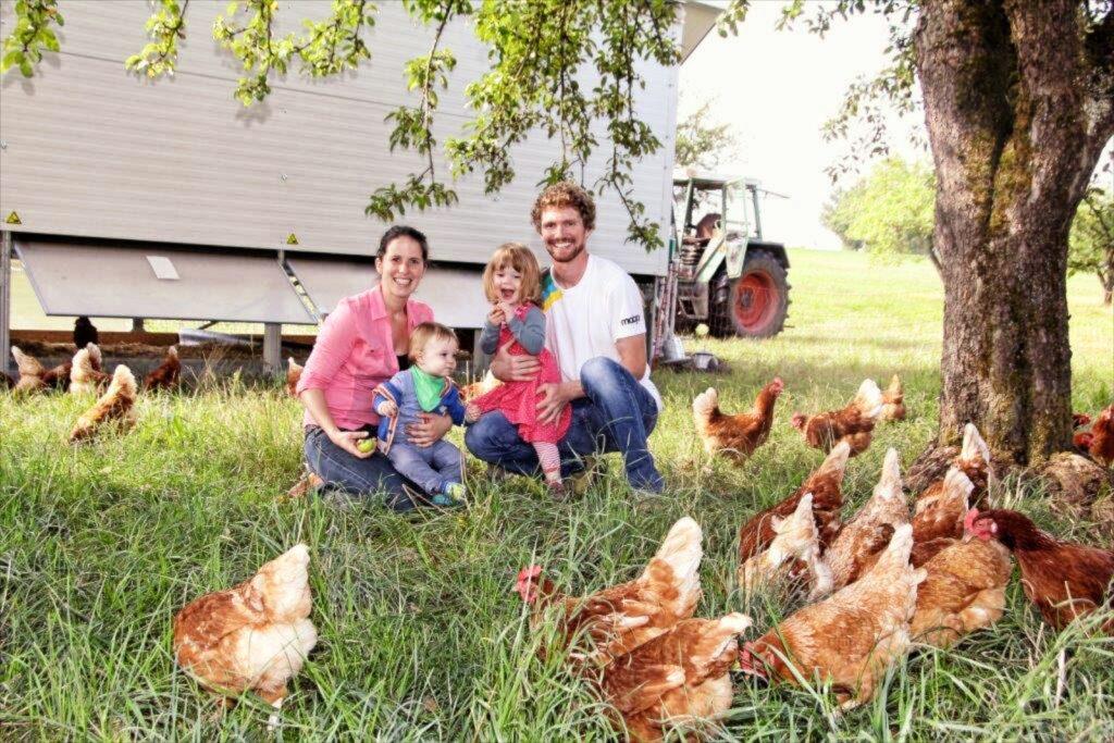 Bild Hühnermobil mit Family